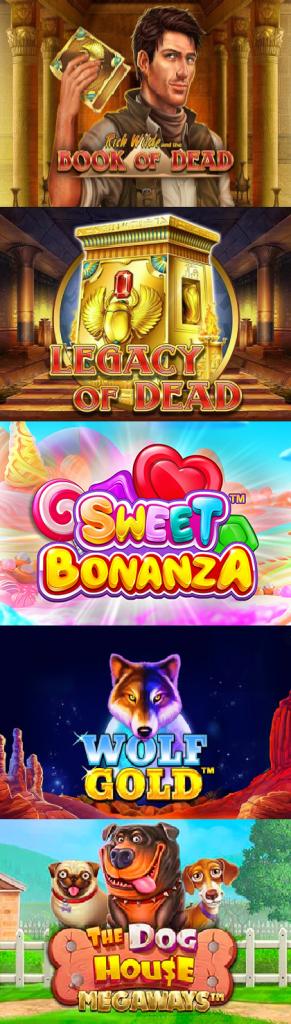Winny Casino popular slots